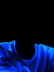 Man in blacklight